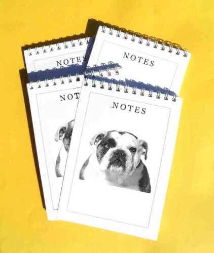 A6 Dog Notepad Jotter Memo pads Gift Set Bulldog Pack of 4