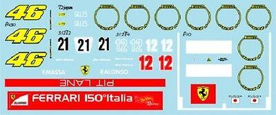 F1 DECALS MUSEUM COLLECTION D625 1//43 FOR FERRARI F150 ITALIA 312T2 /& 312T4