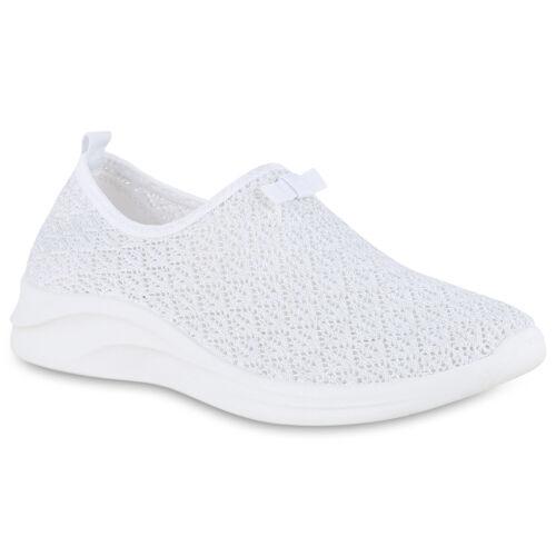 Damen Sportschuhe Slip On Laufschuhe Spitzenstoff Fitness Sneaker 826213 Trendy