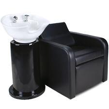 Friseurwaschsessel Friseur Waschplatz Friseurstuhl Elektrische Fußstütze 2Teilig
