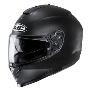 NEU-HJC-Helm-C70-semiflat-black-schwarz-matt-Gr-XXL-63-64-mit-Sonnenblende