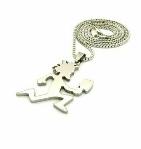 """ICED OUT BLING HATCHET MAN PENDANT /& 24/"""" BOX CHAIN HIP HOP NECKLACE"""