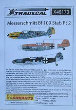 Xtradecal 1/48 X48173 Messerschmitt Bf109 Stab Decal set pt 2
