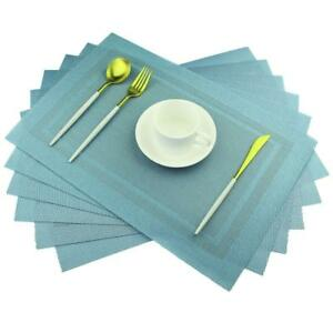Blue-Placemats-Heat-Insulation-Stain-Resistant-Washable-Table-Mat-Set-of-6