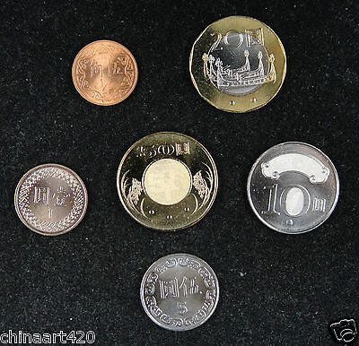 Taiwan coins set of 5 pieces UNC