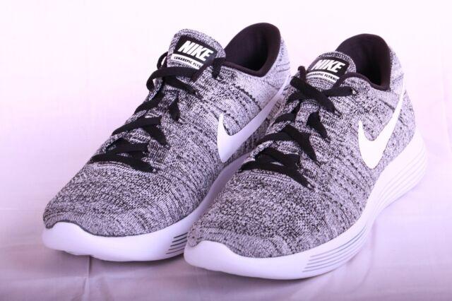 huge selection of dfeb7 669c1 Nike Lunarepic Low Flyknit 843764-001 Men S 11 Black White Oreo Running Shoe