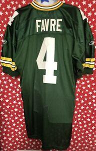 Reebok-Men-s-NFL-On-Field-Green-Bay-Packers-Brett-Favre-4-Jersey-Sz-54-A557