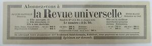 Antique-Brand-Pages-Bookmark-Advertising-Press-La-Magazine-Universelle-P-Benoit