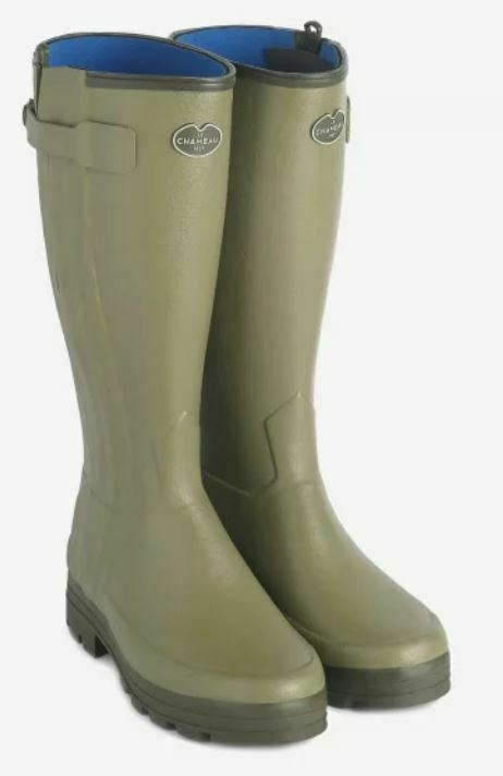 Le Chameau Chasseur Ladies Neoprene Lined Full Zip Wellington Boots (Hunting)
