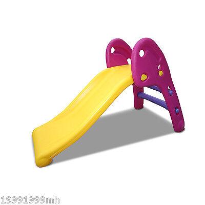 HOMCOM Children Folding Toddler Slide Home Outdoor Indoor Toy Fun Multi-colour
