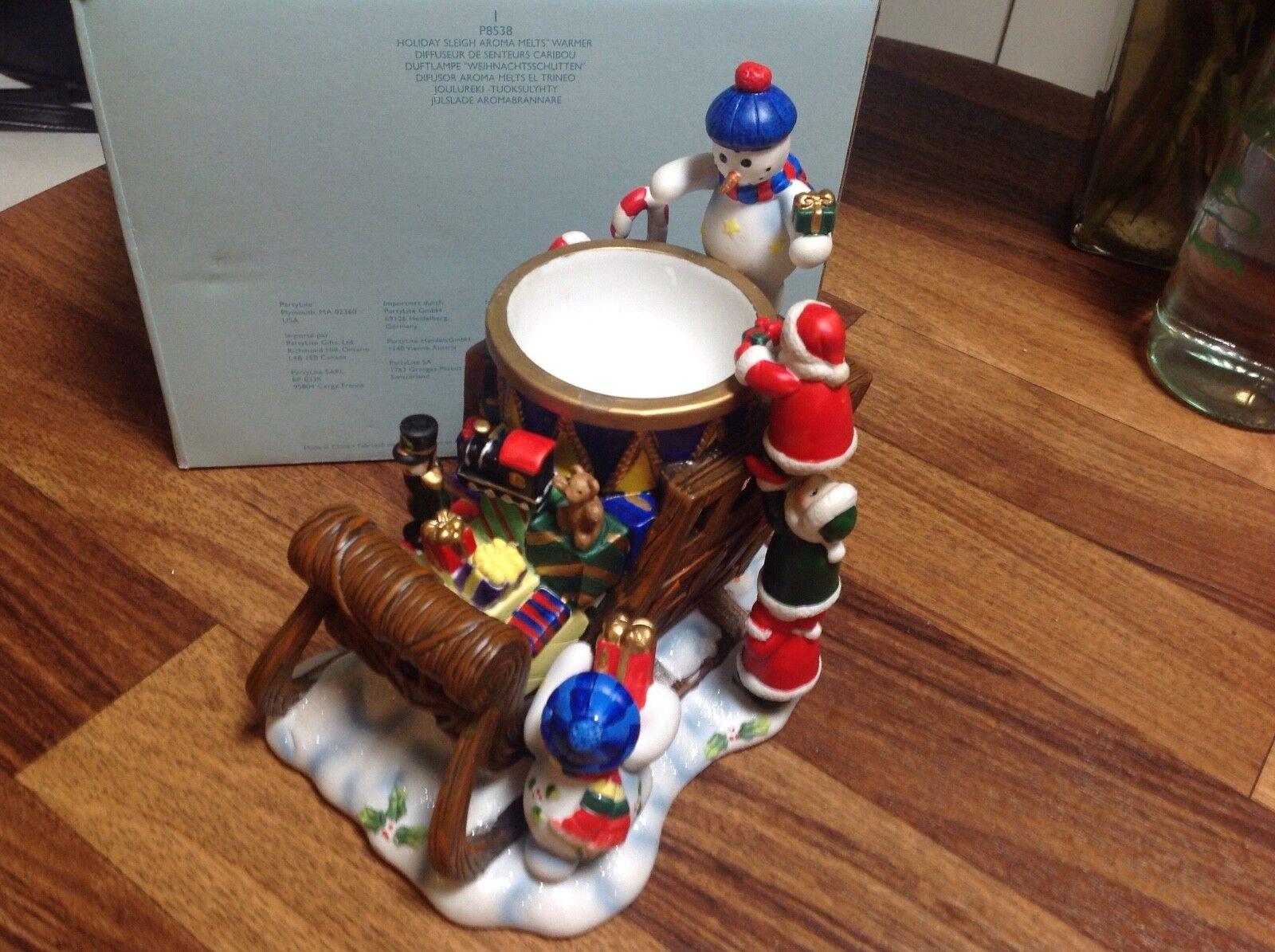 P8538 Duftlampe Weihnachtsschlitten Frosty Schlitten Schneemann Partylite  | Fairer Preis