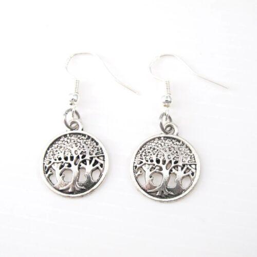 10 Wholesale Bulk Lot Vintage Silver Alloy Dangle Tree Of Life Celtic Earrings