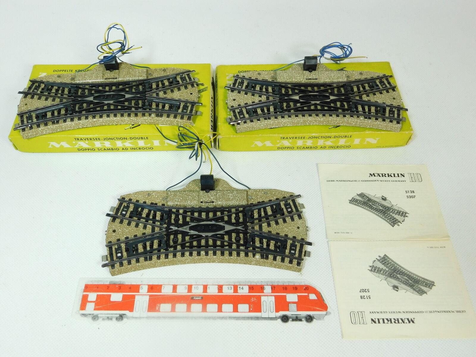 BQ318-1x Märklin H0 AC 5128 Bastler-DKW (M-Gleis), Magnete in Ordnung, 2x OVP