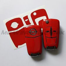 1O_Schlüssel-Dekor Cover Opel Corsa D,Astra H,Zafira B,Vectra, rot glänzend