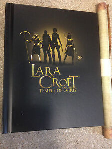 * TOMB RAIDER - LARA CROFT AND THE TEMPLE OF OSIRIS - ARTBOOK & MAP - NEW