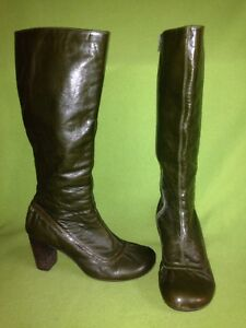 MIZ MOOZ LEATHER LACE UP BOOTS SLOANNE CHARCOAL NEW 36 37 40 41