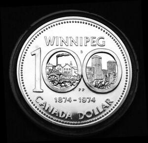 1974 BU silver $1 celebrating 100th anniversary of Winnipeg