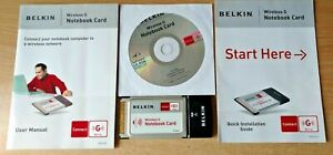 Belkin-Wireless-G-Notebook-PCMCIA-Card-54Mbps-Software-CD-Manual