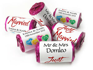Personalised-Mini-Love-Heart-Sweets-for-Weddings-favours-Married-Ebay-039-s-Cheapest