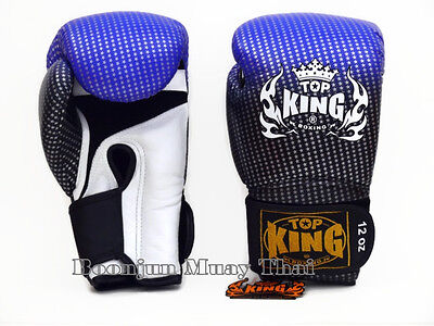 NWT TOP KING Boxing gloves Blue TKBGSS 01 Super Star Air MMA K1 Muay Thai gloves