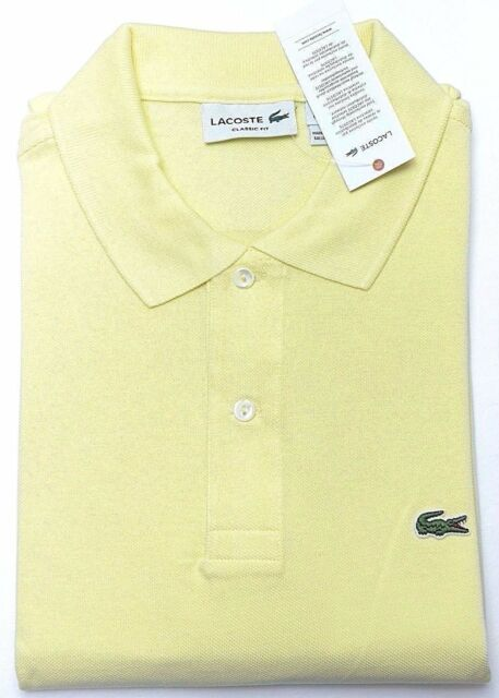 ed461b82 Lacoste L1212 Men's PIQUÉ Classic Fit Feather Yellow Cotton Polo Shirt New  XL 6