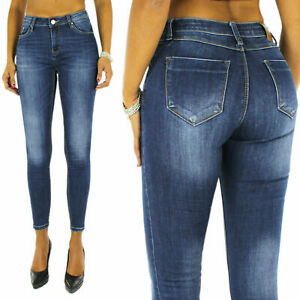 Jeans-Donna-Denim-Push-Up-Skinny-Pantaloni-Elasticizzati-Casual-SlimFit-Aderenti