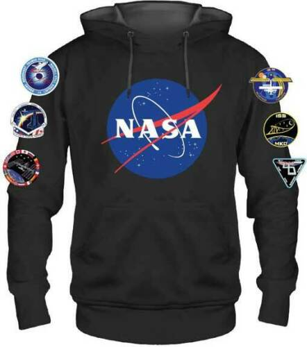 NASA Logo Space United States of America Patches Pullover Hoodie HD13501GENM