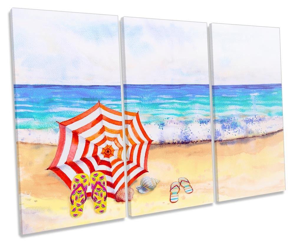 Ombrello DA DA DA SPIAGGIA FLORA TREBLE TELA parete opera d'arte art print c685b0
