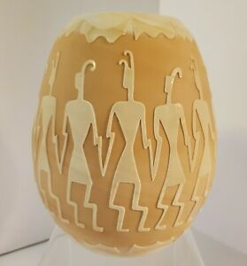Fenton-Artist-039-s-Proof-7-inch-Chocolate-Sand-Carved-Kelsey-Murphy