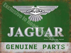 Jaguar genuine parts 185 vintage garage car advertising for Vintage garage signs uk