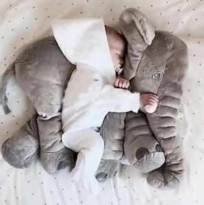 baby children elephant pillow long nose plush soft toy animal fast dispatch uk ebay. Black Bedroom Furniture Sets. Home Design Ideas