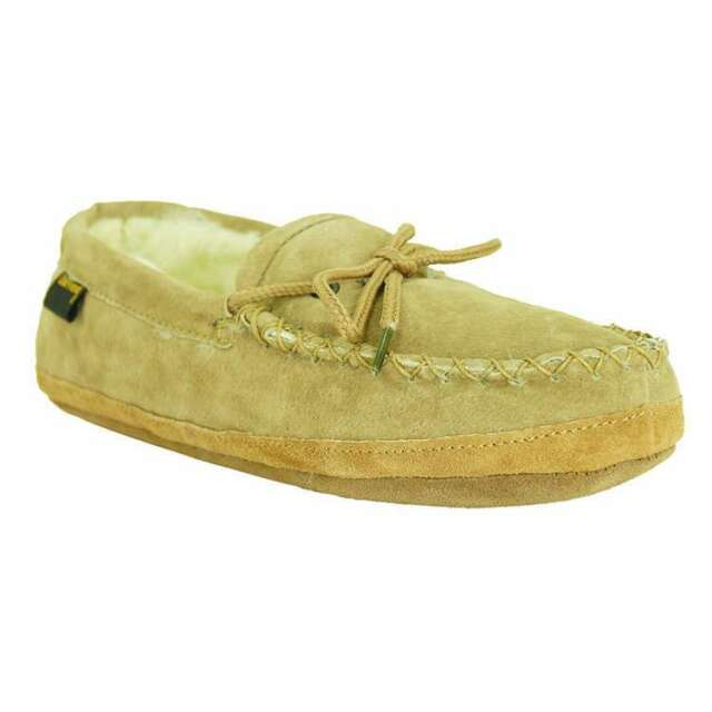 ad0b17bf93a Old Friend Footwear Mens Genuine Sheepskin Softsole Loafer Moccasin Slipper