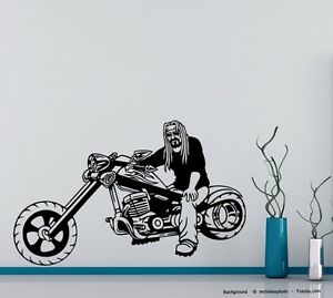 Wandtattoo cooler biker bandana motorrad motorcycle motorbike 676 ebay - Motorrad wandtattoo ...
