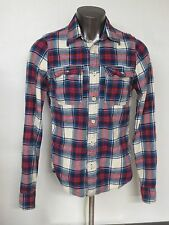Men's Abercrombie & Fitch Plaid Heavy Lumberjack Shirt Long Sleeve Size L Muscle