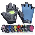 Bike Bicycle Cycling Gel Silicone Padded Half Finger Gloves Fingerless Antiskid
