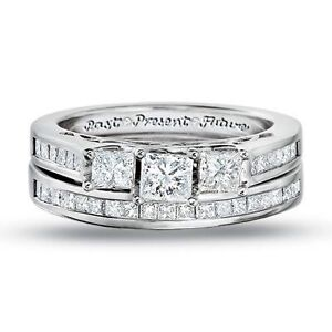7f6d4ab4c6c03 Details about Zales Past Present Future Wedding Set
