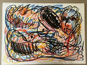 Rick-McCarthy-Original-Oil-039-Rich-Color-039-Pastel-Signed-Art-Picasso-School