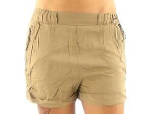 Shorts-kurze-Hose-Walkshorts-Lisbeth-beige-Reissverschluss-Taschen