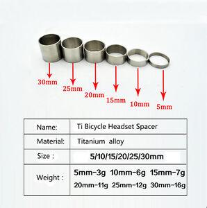 Titanium-Ti-Spacer-1-1-8-034-5-10-15-20-25-30mm-for-Headset-amp-Stem-front-fork