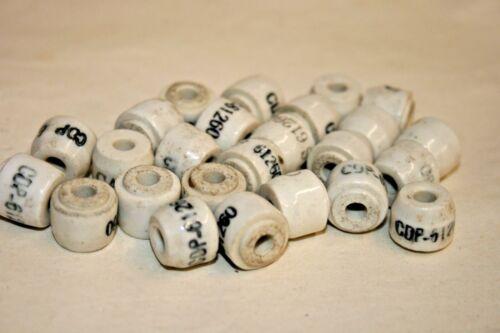 """101-443 0.5/"""" x 0.42/"""" 25 PACK Ceramic Insulator #8 Hole"""