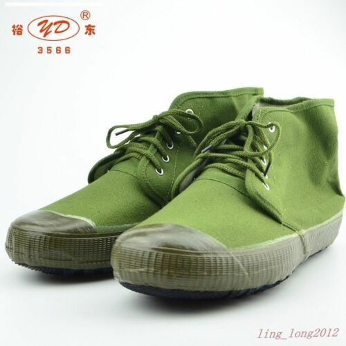 18 SURPLUS CHINESE TRAINING ARMY PLA TACTICAL SHOES BOOTS LIBERATION ARMY GREEN