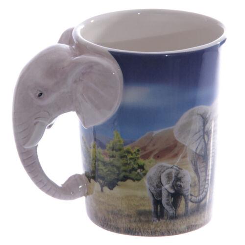 Mango en forma de elefante creativo taza Jugo de Té leche animal de Cerámica De Café Taza