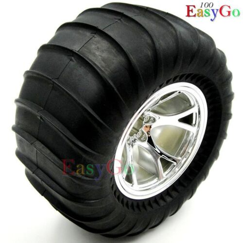 4pcs RC 1//10 Big Foot Soft Tires w// 2.2in Wheels Hex 12mm for Wild Willy Truck