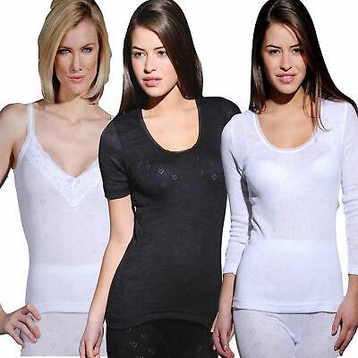 Ladies Thermal Underwear Short or Long Sleeved Vests or Long John Janes Ski Wear
