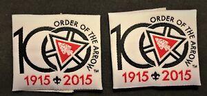 ORDER-OF-THE-ARROW-OA-100TH-CENTENNIAL-ANNIV-NOAC-2015-SHOULDER-LOOPS-EPAULETTES