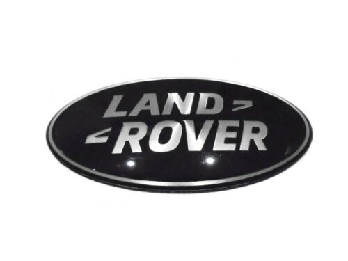Land Rover Discovery 4 Negro y Plateado Insignia Emblema Parrilla delantera 106mm
