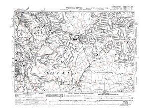 Old Map of Birmingham Quinton Halesowen Staffs in 1938 Repro 72