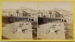 Napoli Italia Stereo Vintage Albumina Ca 1865