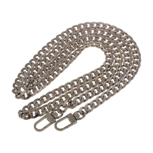 120cm Schultertasche Riemen Griff Tasche Kette Ersatz für DIY Taschen grau