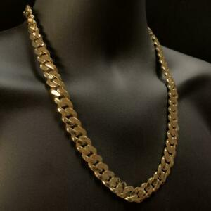 10kt Yellow Gold Monaco Miami Cuban Link Chain 13mm 24 Inches Canada Preview